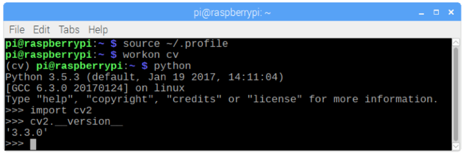 Installing OpenCV 3 Package