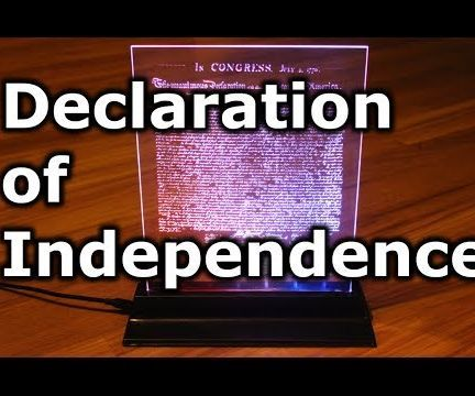 Edge Lit Declaration of Independence!