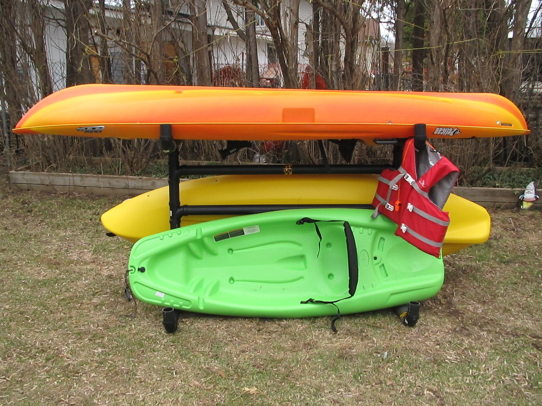 How To Make An Outdoor Kayak Storage Rack 7 Steps Instructables