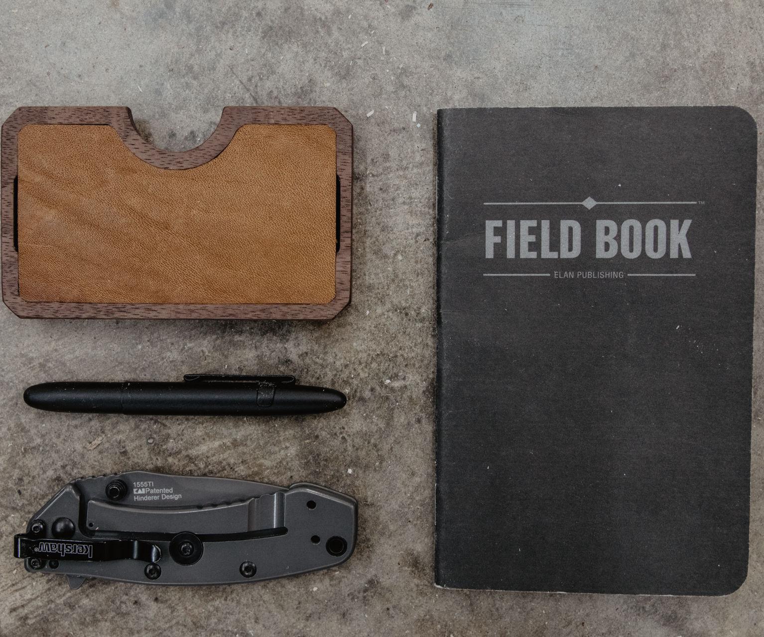 Minimal EDC Wood & Leather Wallet