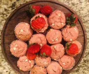 巧克力草莓松饼