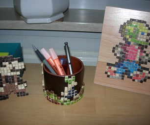 Small-scale Wooden Pixel Art