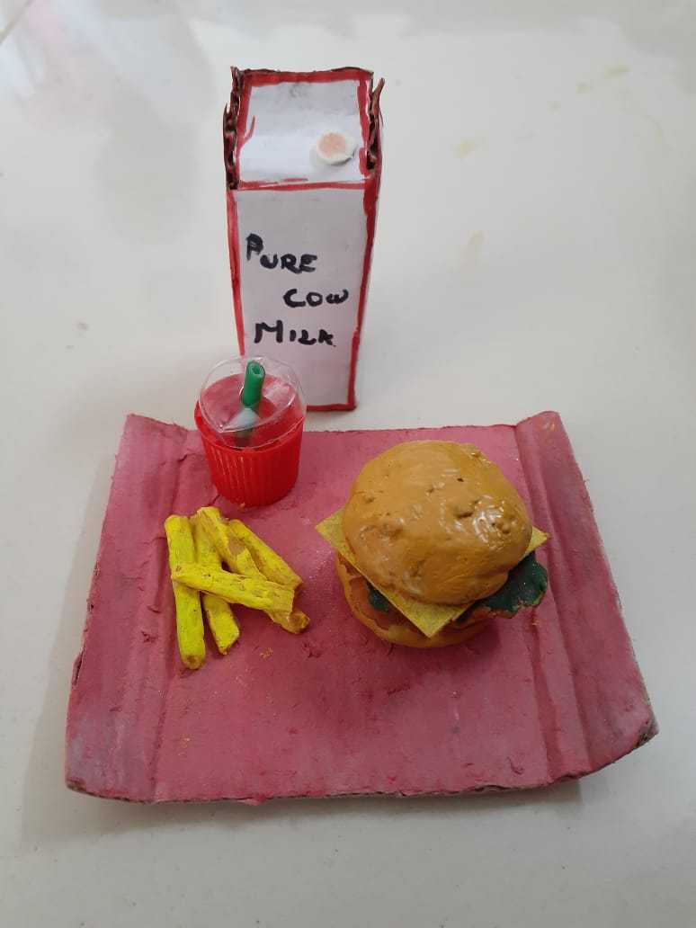 Mini French Fries and Tray and Juice Cup