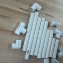 How to make a U and an R out of PVC pipe