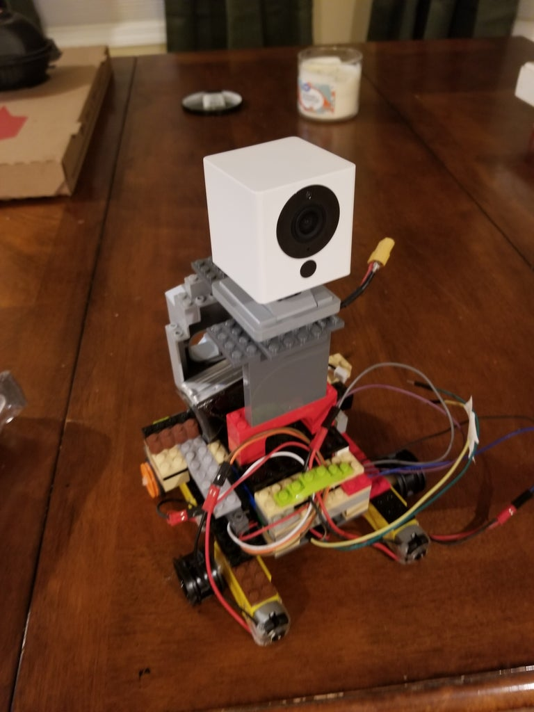 Internet Controlled Security Robot W/ Night Vision