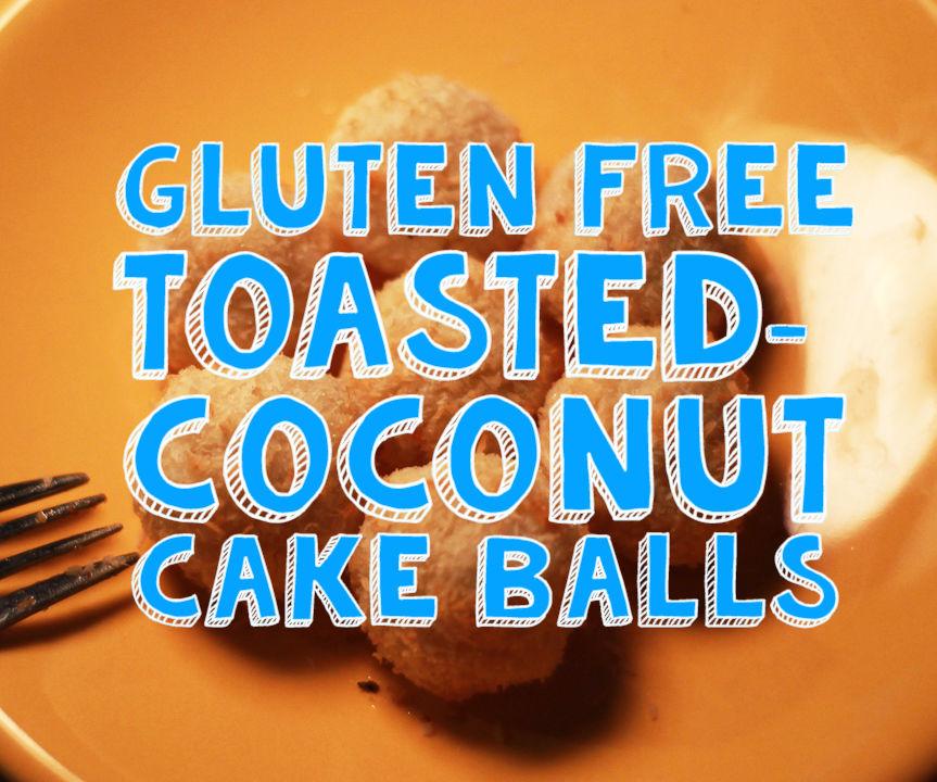 Toasted Coconut Cake Balls