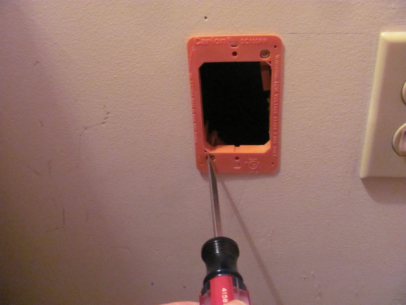 Install Your Phone Jack Mounting Ring (Box)
