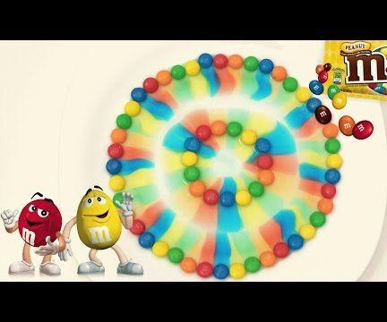 M&M's Rainbow Colorful Magic Experiment