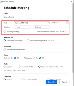 Set Up Your Meeting