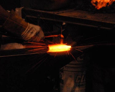 Welding the Bit Into the Axe