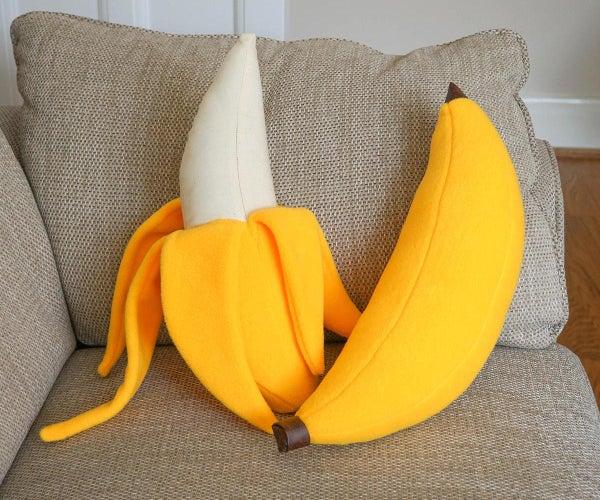 DIY Banana PLUSHIES !   Whole & Peeled Fruit Sewing Patterns