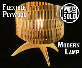 Flexible Plywood Modern Lamp