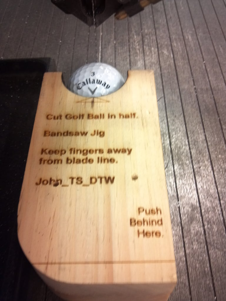 How to Cut a Golf Ball in Half?  We Did It at TechShop.