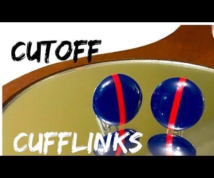 Cufflinks from Cutoffs (USMC -Blood Stripe)