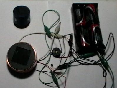 Light Detector / Alarm Using a Solar Lawn Light
