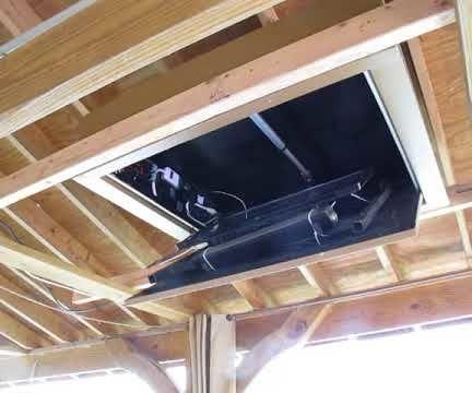 Motorized Flip Down TV Lift