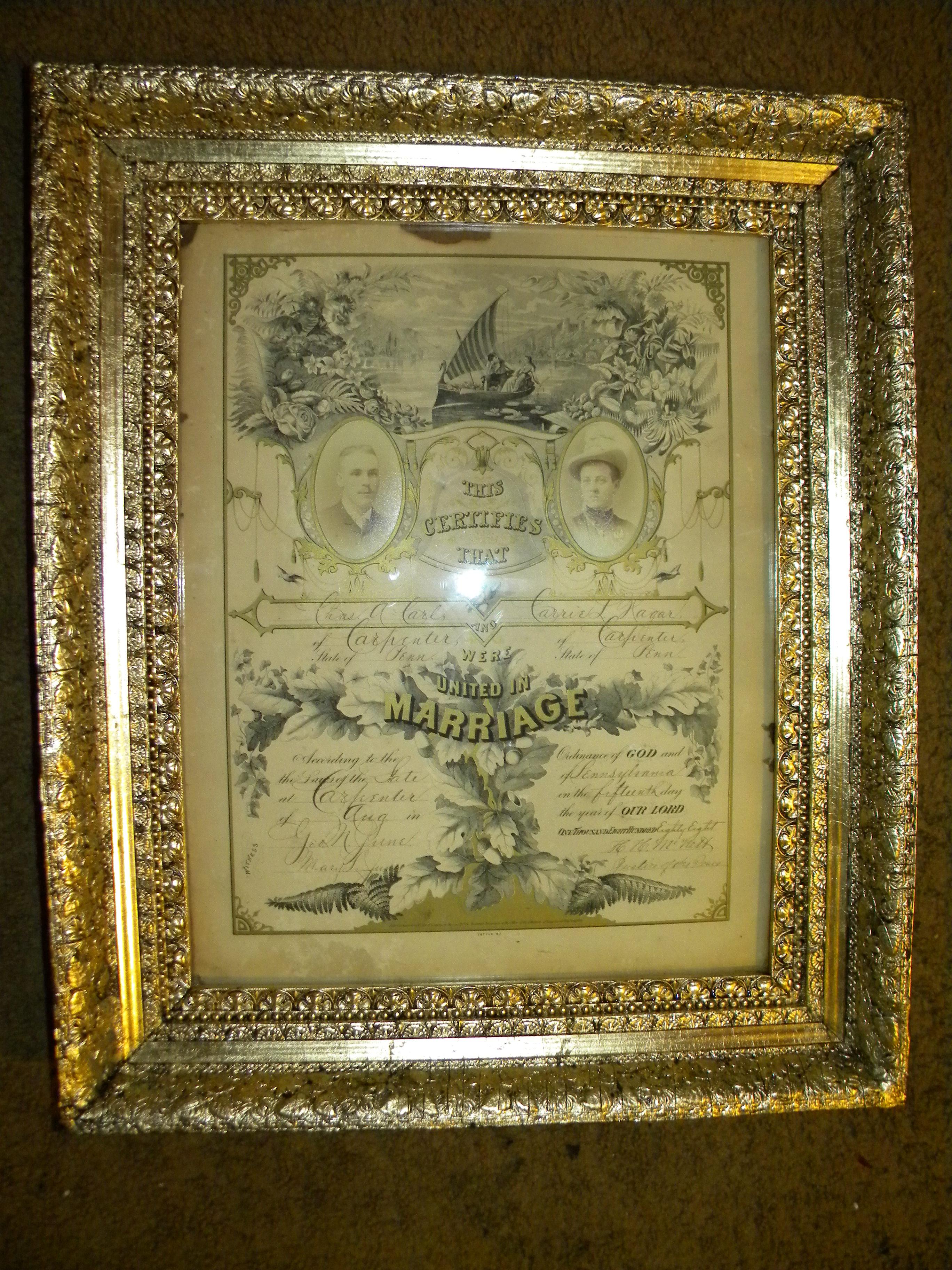 Vintage Plaster and Gold Frame Restored