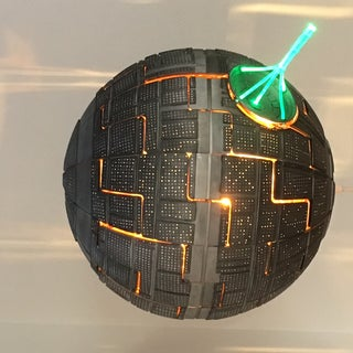 Remote Controlled IKEA Death-Star Lamp