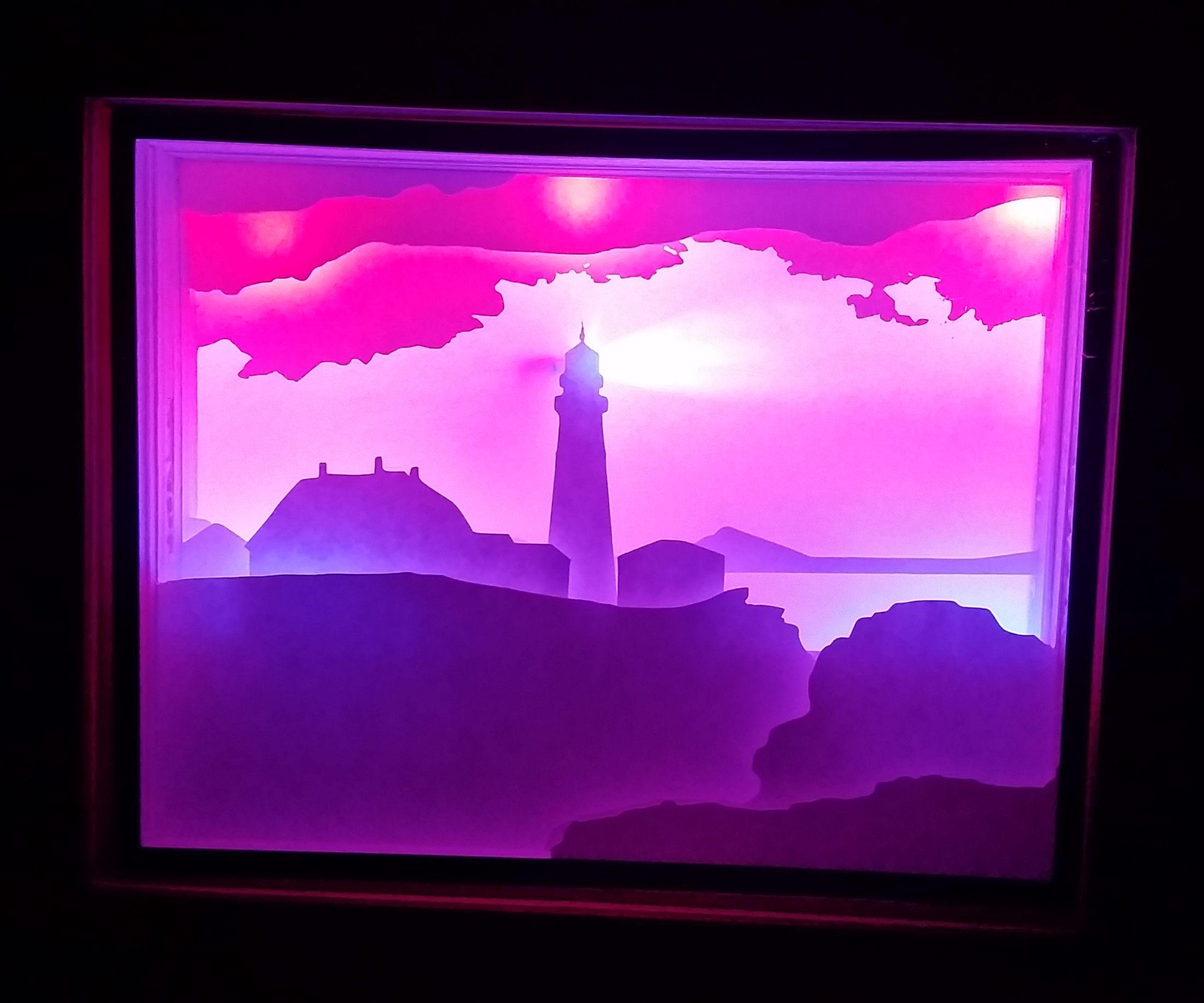 Maine Lighthouse Shadowbox