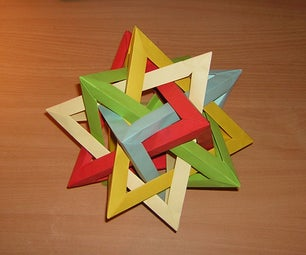 How-to Fold a Five Intersecting Tetrahedra Dodecahedron