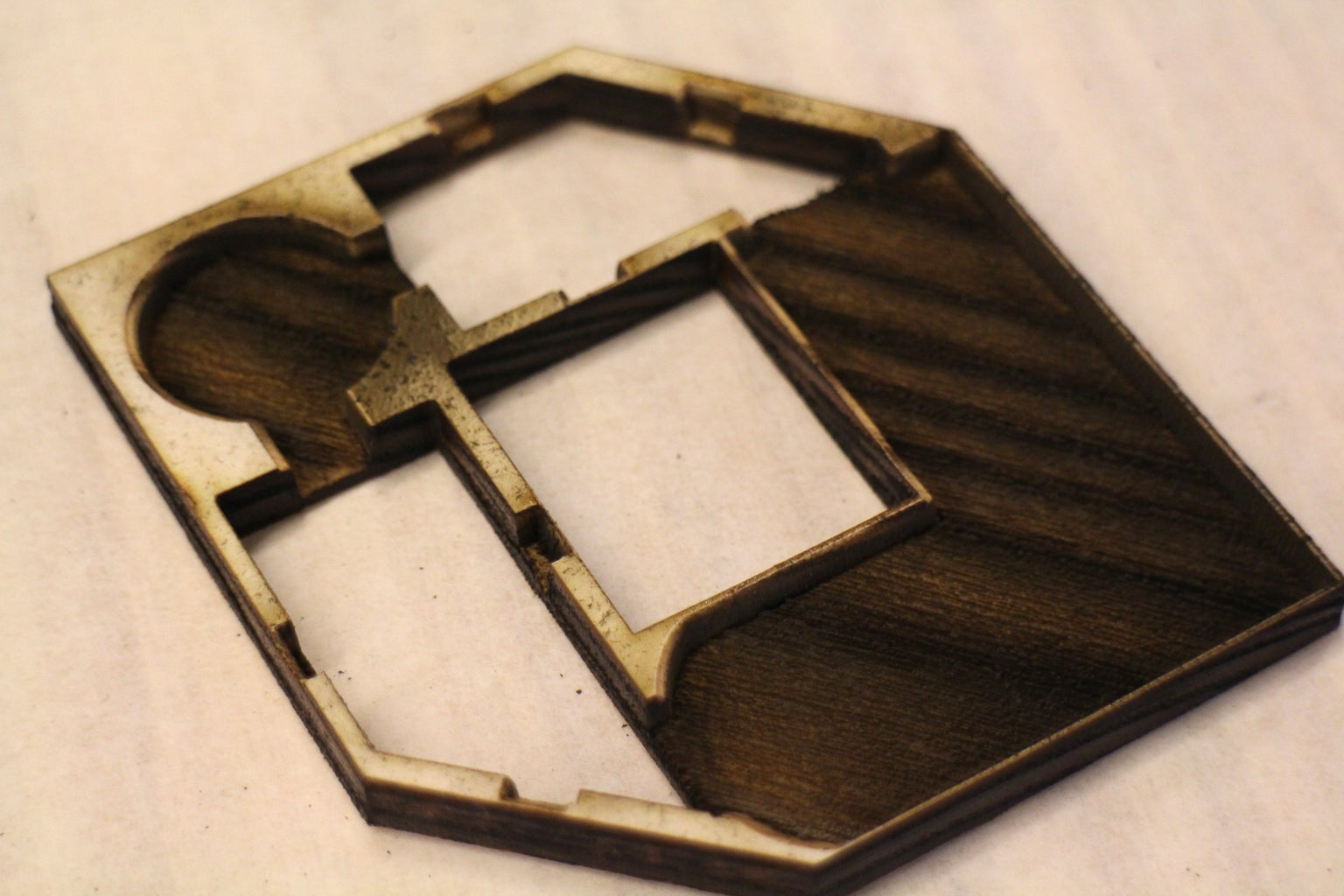Engrave and Cut Brooch