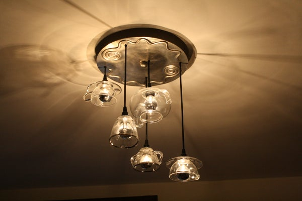 Tea Light for Two -- Make Your Own Pendant Light From a Tea Set