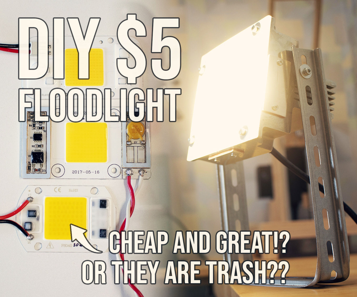 Making a Floodlight With Dirt-cheap AC LEDs