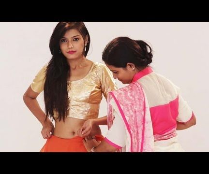 How To Wear A Party Style Saree To Look Slim & Tall - Ways To Wear A Saree Perfectly In 2 Mins