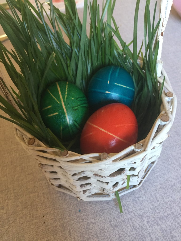 Easter Egg Decoration With Rubber Bands