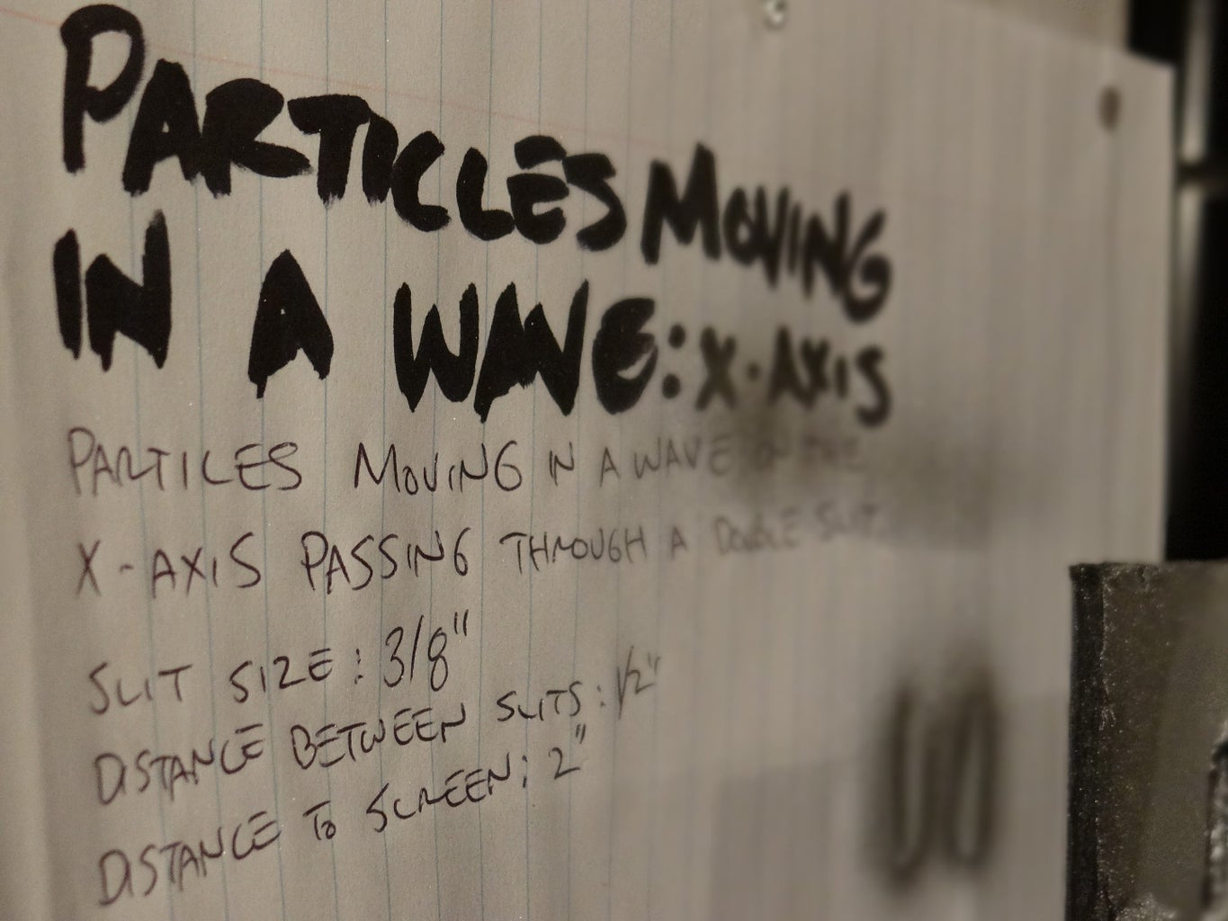 Hypothesize: What Happens If Particles Moving in a Wave Passes Through Two Slits?