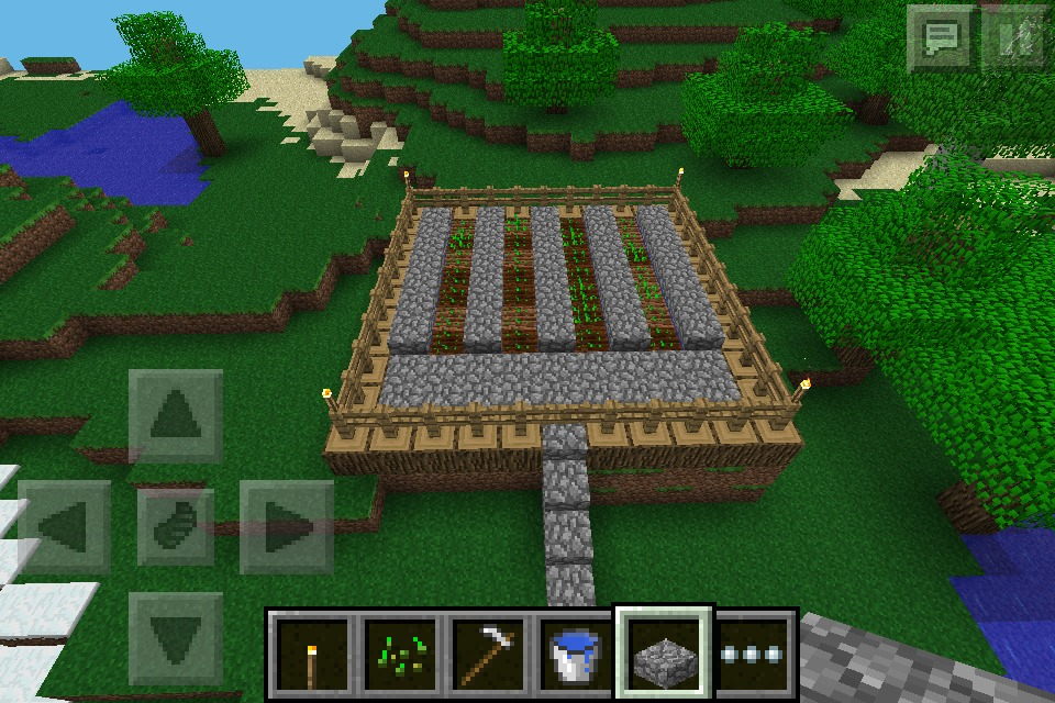 How To Make A Simple Wheat Garden In Minecraft Pe