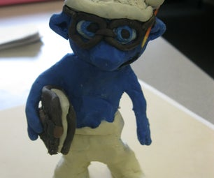 Clay Brainy the Smurf.