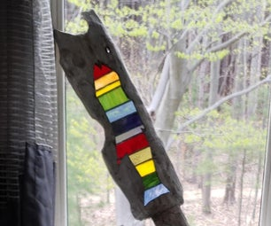 Stained Glass & Wood Sculpture