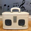 Vintage Train Case Bluetooth Boombox Luggage