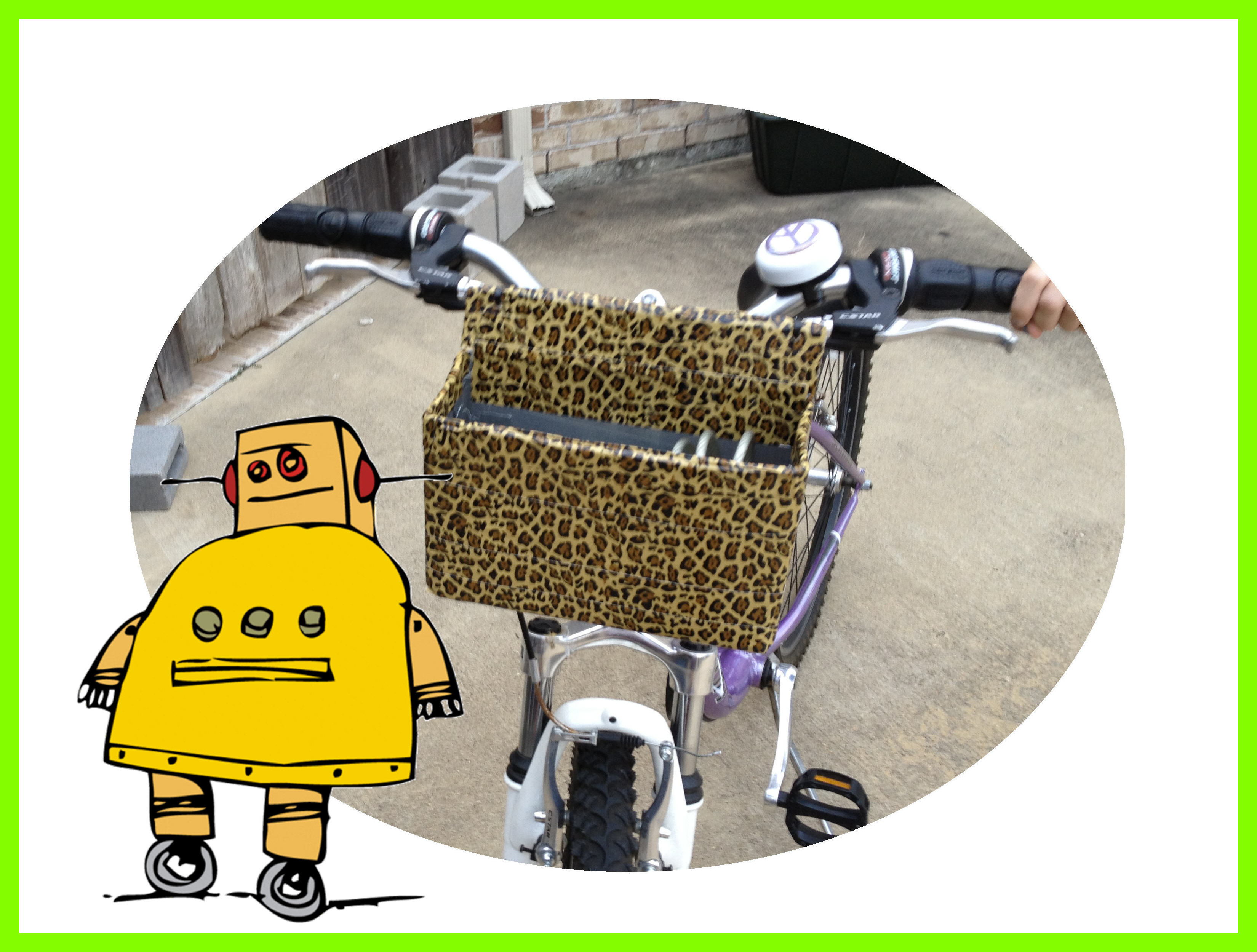 Super-Deluxe Custom Bike Basket for Under $5.00, (Using Cardboard, Wire & Duct Tape)