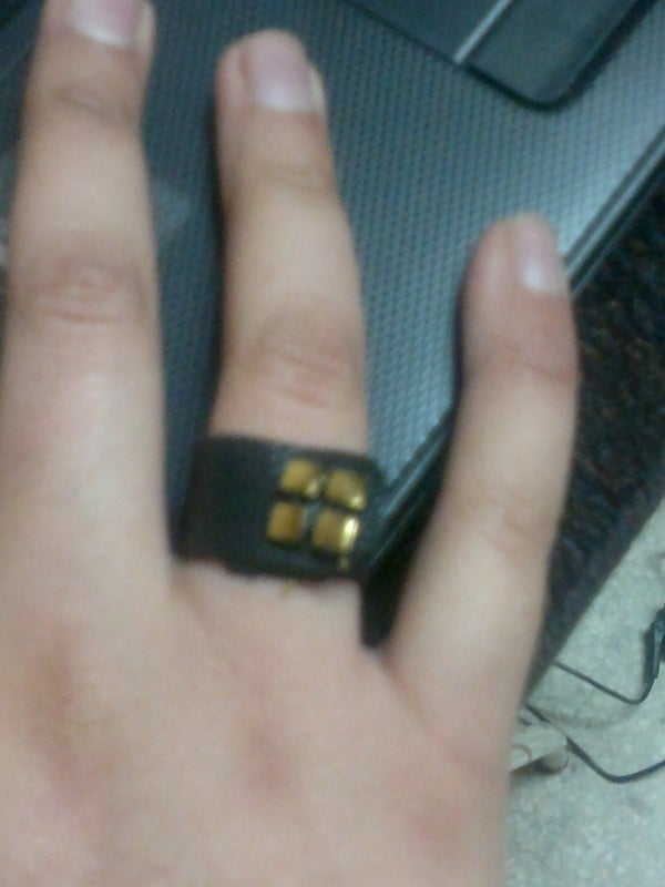 Last Minute Leather Ring