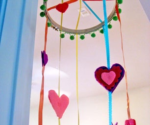 Embroidery Hoop Mobile