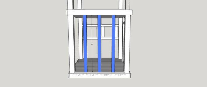 Step 7:  Ladder Side Framing