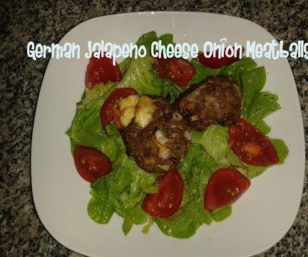 German Jalapeno Cheese Onion Meatballs Recipe