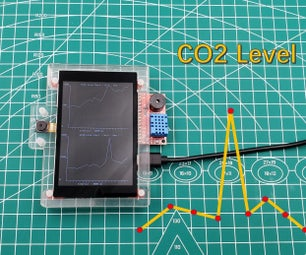 Show CO2 Historical Level Curve With ESP32