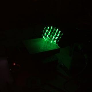 Raspberry Pi 4x4x4 LED Cube
