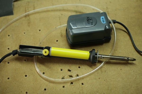 Hot Air Soldering Gun From a Desoldering Iron With a Vaccume Pump