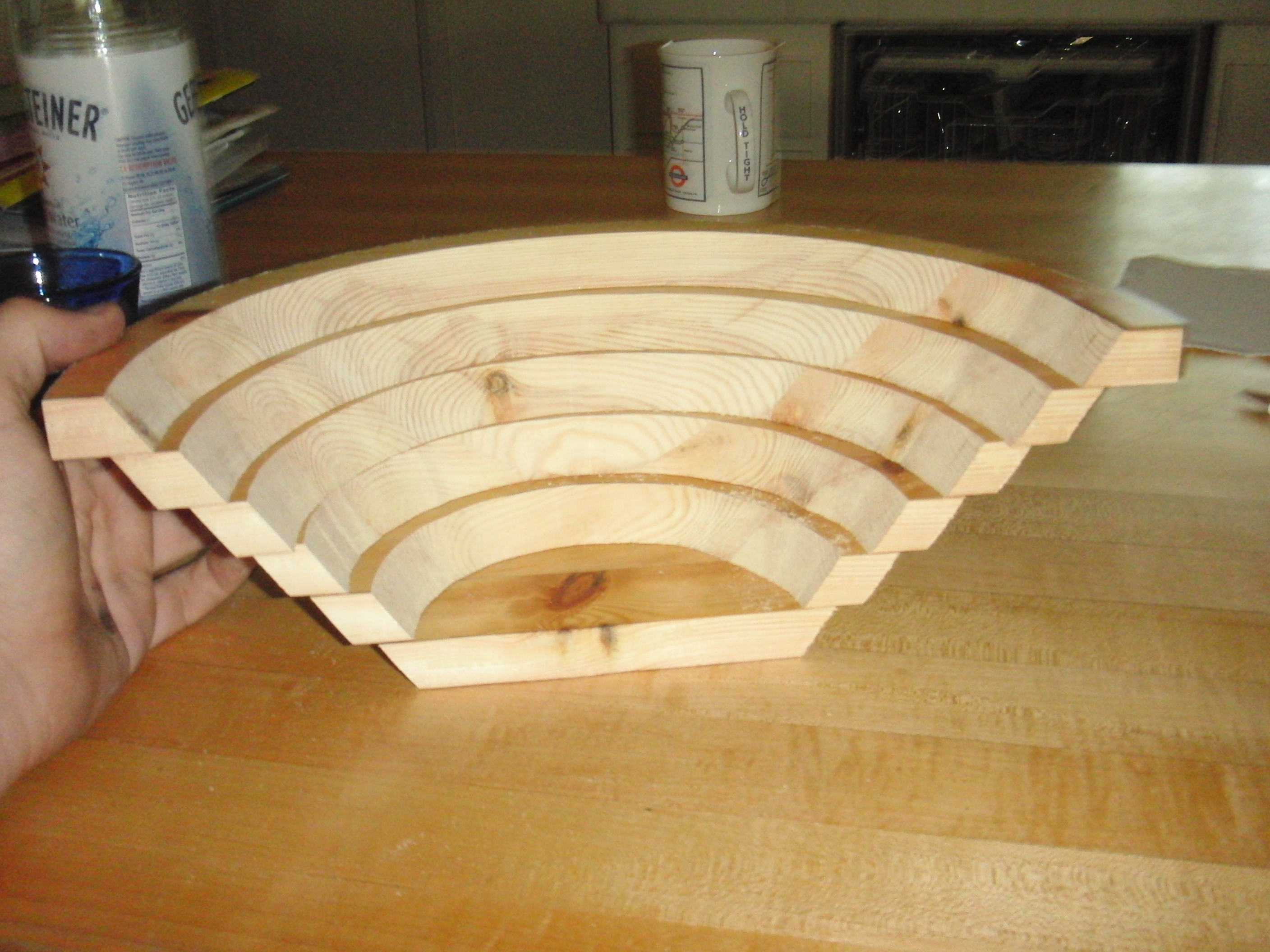 How to make a bowl from a flat plank