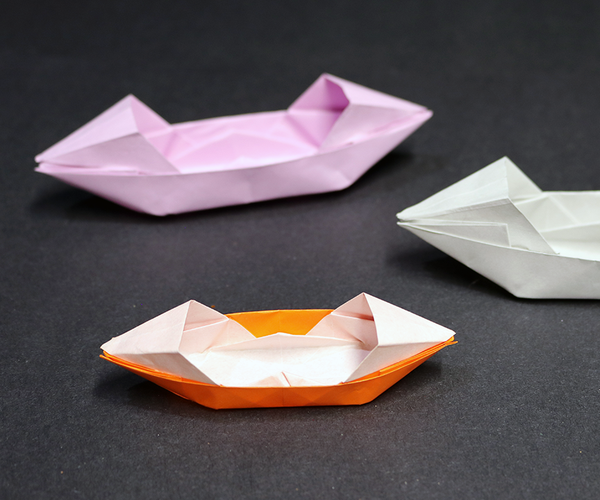 How to Make an Easy Origami Sampan Paper Boat!