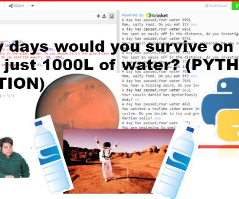 Survival on Mars Python Code Game