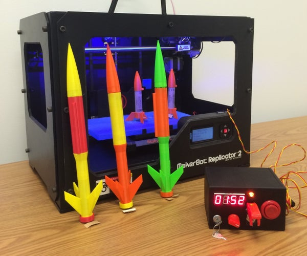 Arduino Model Rocket Launcher for 3D Printed Rockets