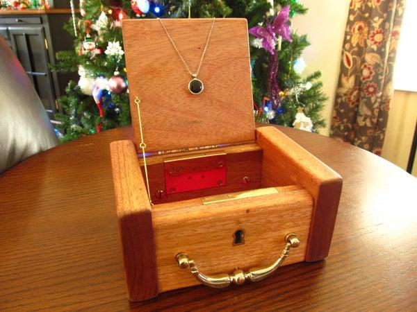 Antique Jewelry Box and Pendant