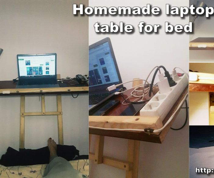 Homemade Laptop Table for Bed