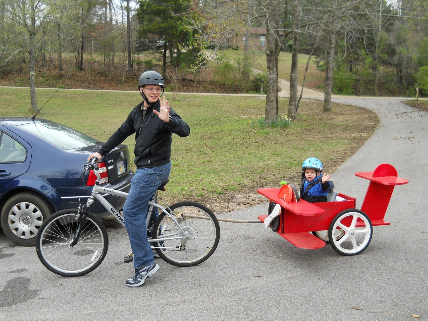 Red Baron Child's Bicycle Trailer
