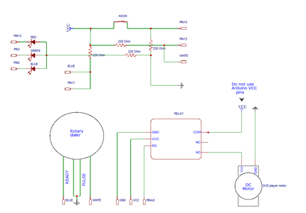 Schematic, Hook Switch and PCB